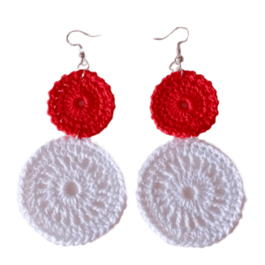 Handmade Crochet Earrings made in India by Kakoli Roy