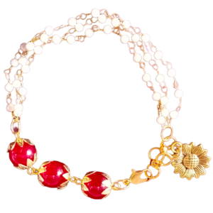 Handmade Beads Bracelet made in India by Kakoli Roy
