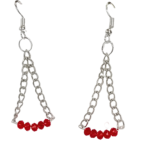 Handmade Beads Earrings made in India by Kakoli Roy