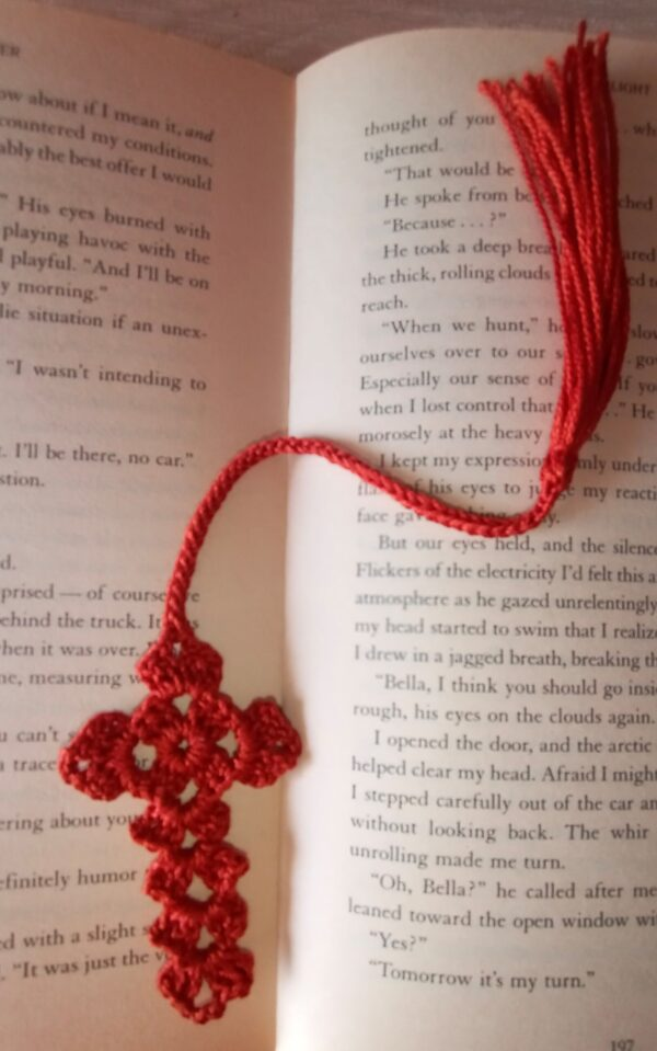 Handmade Crochet Bookmark made in India by Kakoli Roy