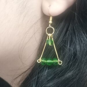 Handmade Crystal Earrings made in India by Kakoli Roy